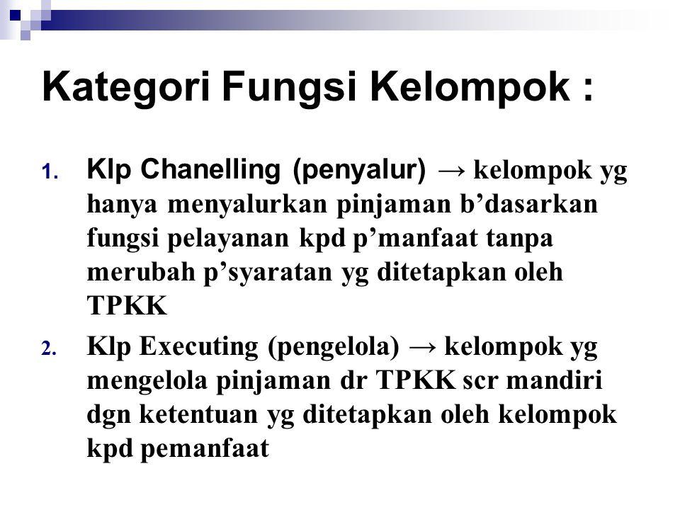 Kategori Fungsi Kelompok :