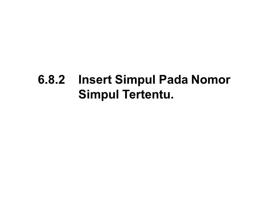 6.8.2 Insert Simpul Pada Nomor
