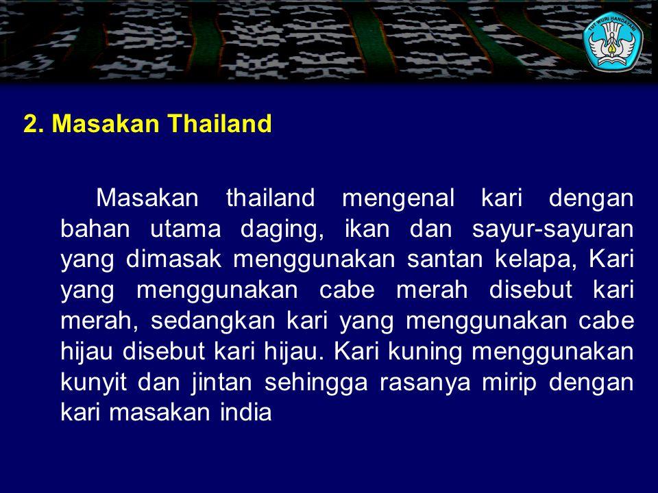 2. Masakan Thailand