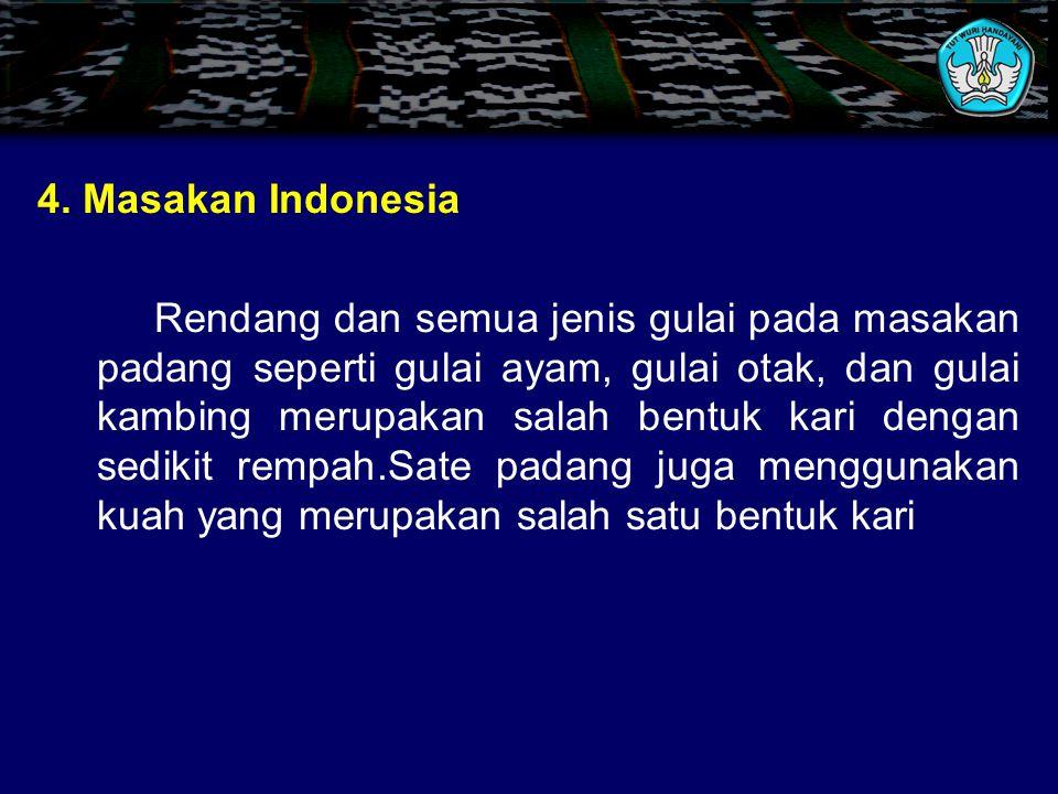 4. Masakan Indonesia