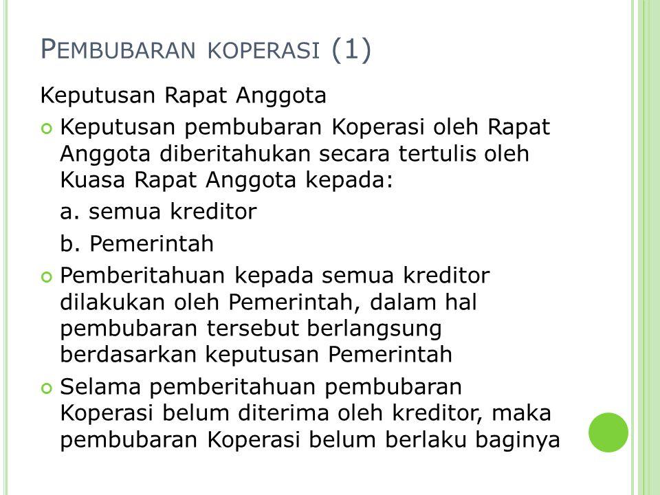 Pembubaran koperasi (1)