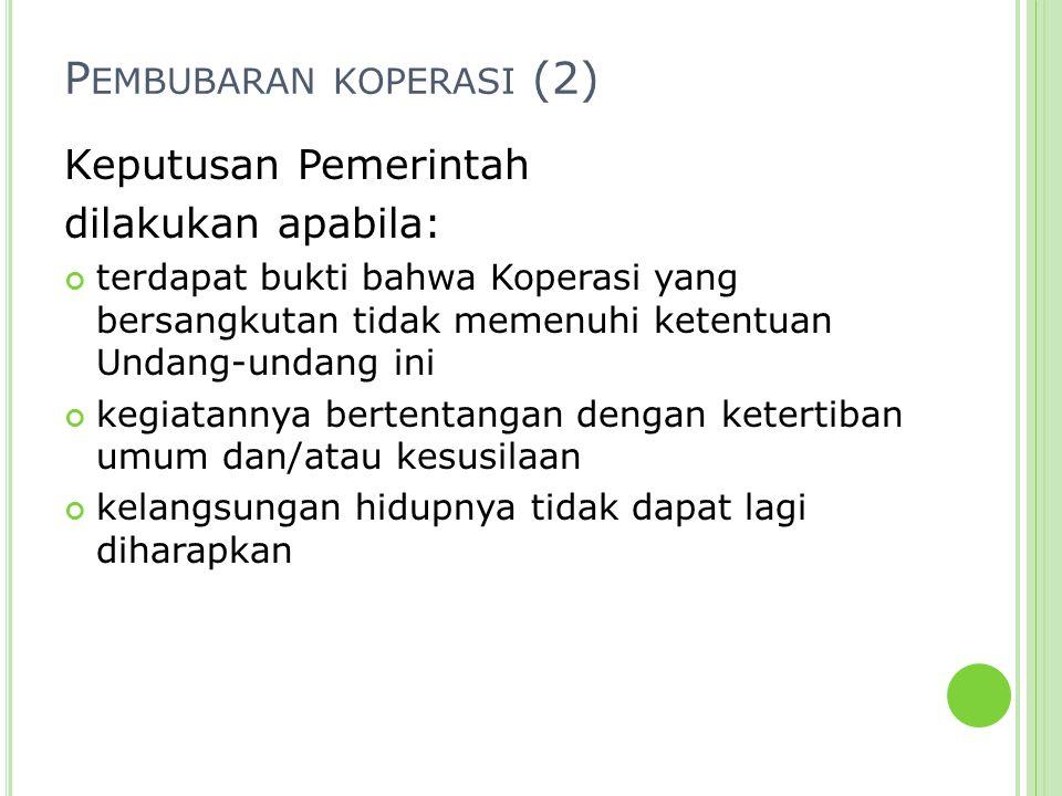 Pembubaran koperasi (2)