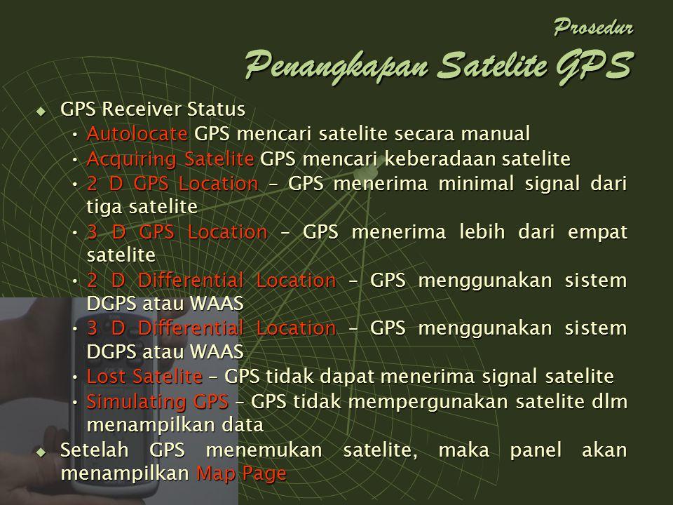 Prosedur Penangkapan Satelite GPS