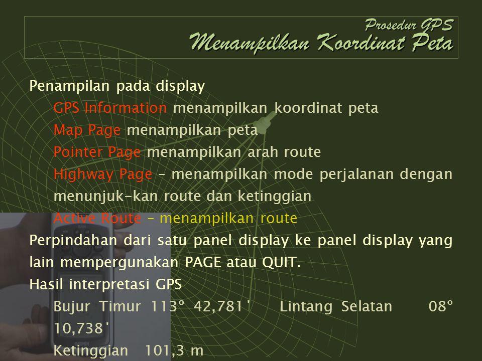 Prosedur GPS Menampilkan Koordinat Peta