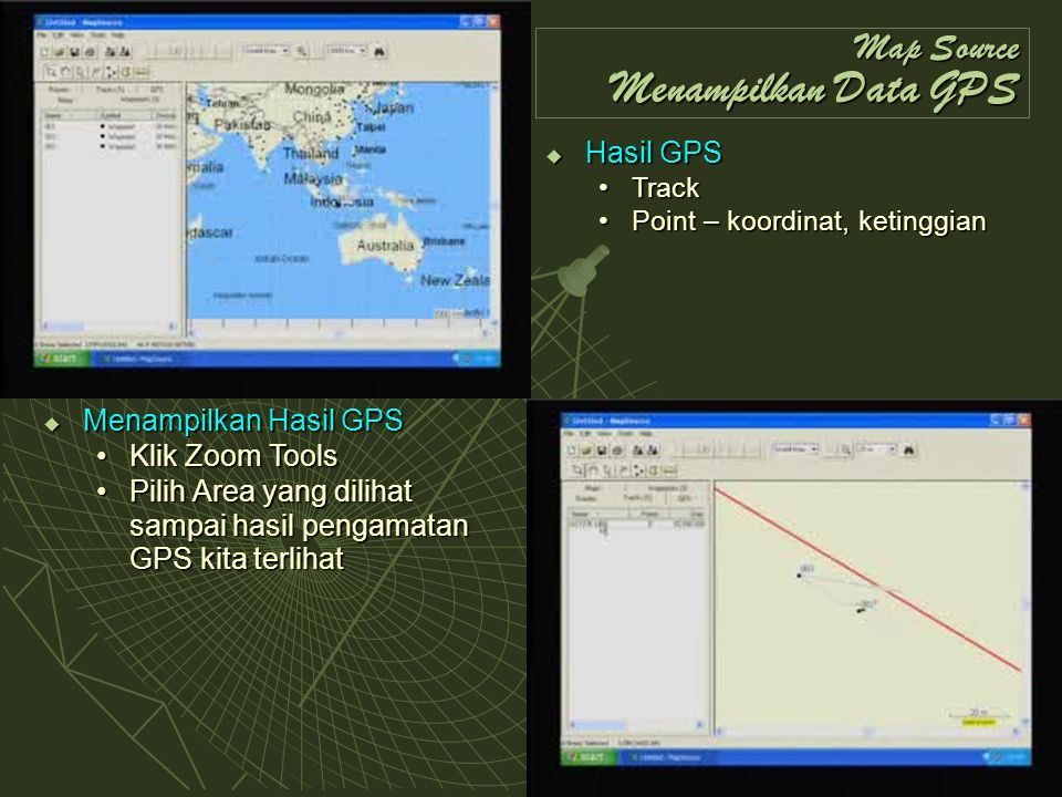 Map Source Menampilkan Data GPS