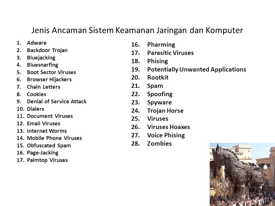 Jenis Ancaman Sistem Keamanan Jaringan dan Komputer