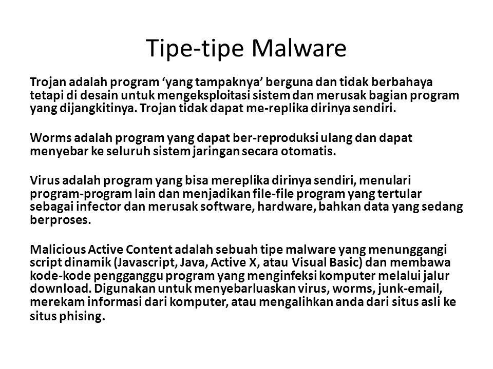 Tipe-tipe Malware
