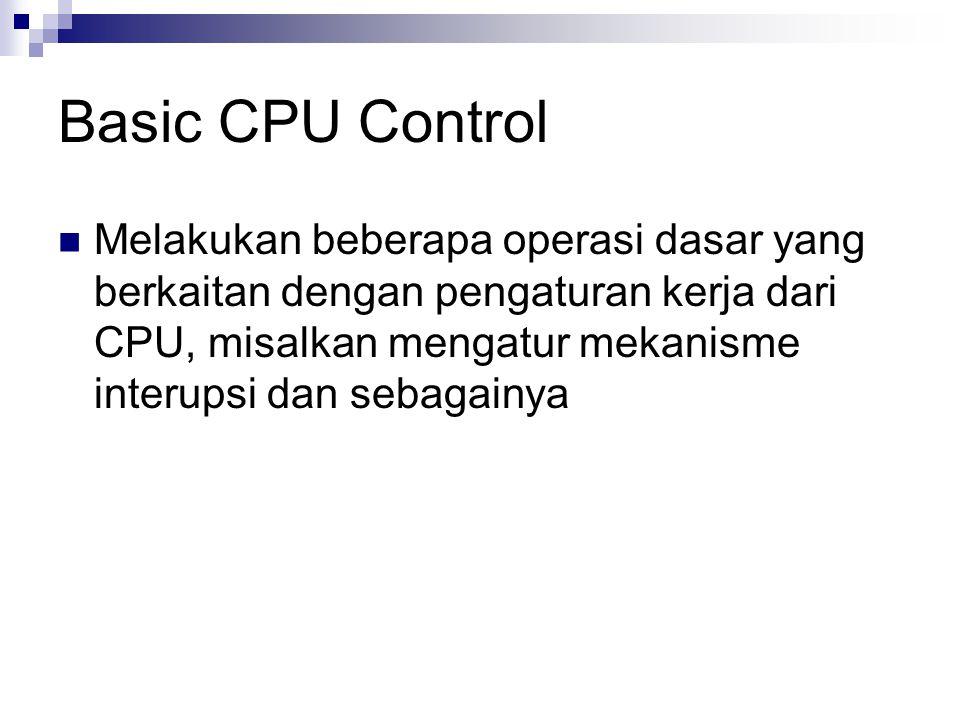 Basic CPU Control