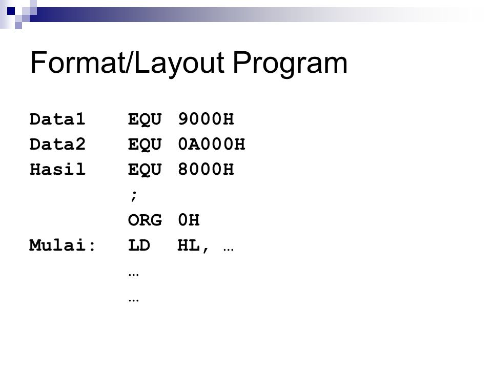 Format/Layout Program