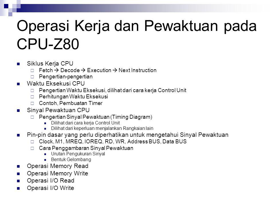 Operasi Kerja dan Pewaktuan pada CPU-Z80