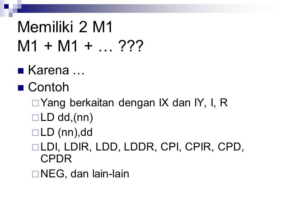 Memiliki 2 M1 M1 + M1 + … Karena … Contoh