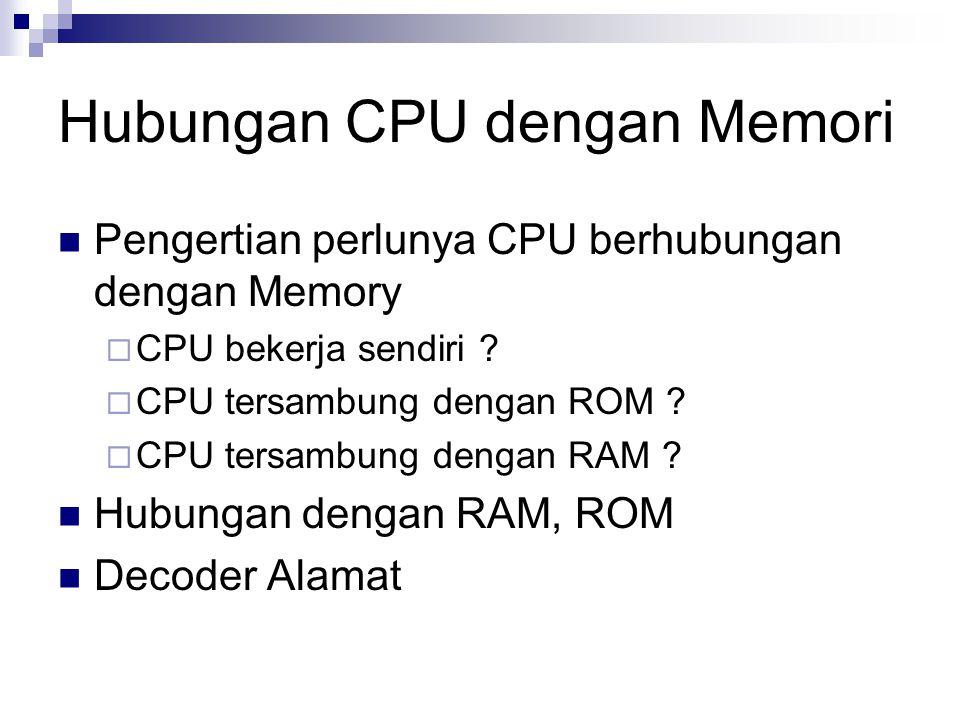 Hubungan CPU dengan Memori