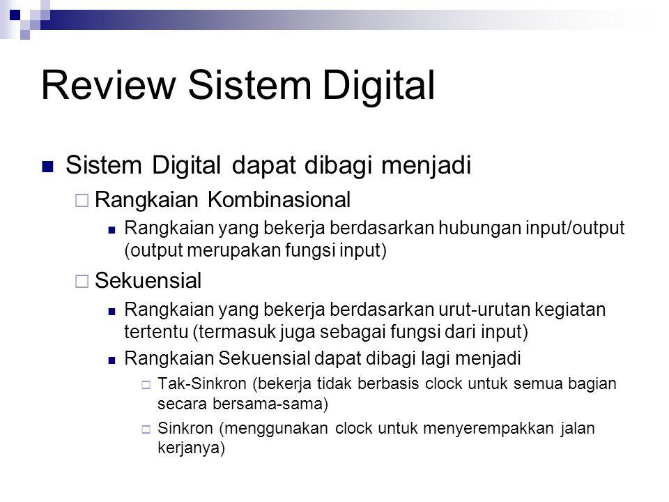 Review Sistem Digital Sistem Digital dapat dibagi menjadi