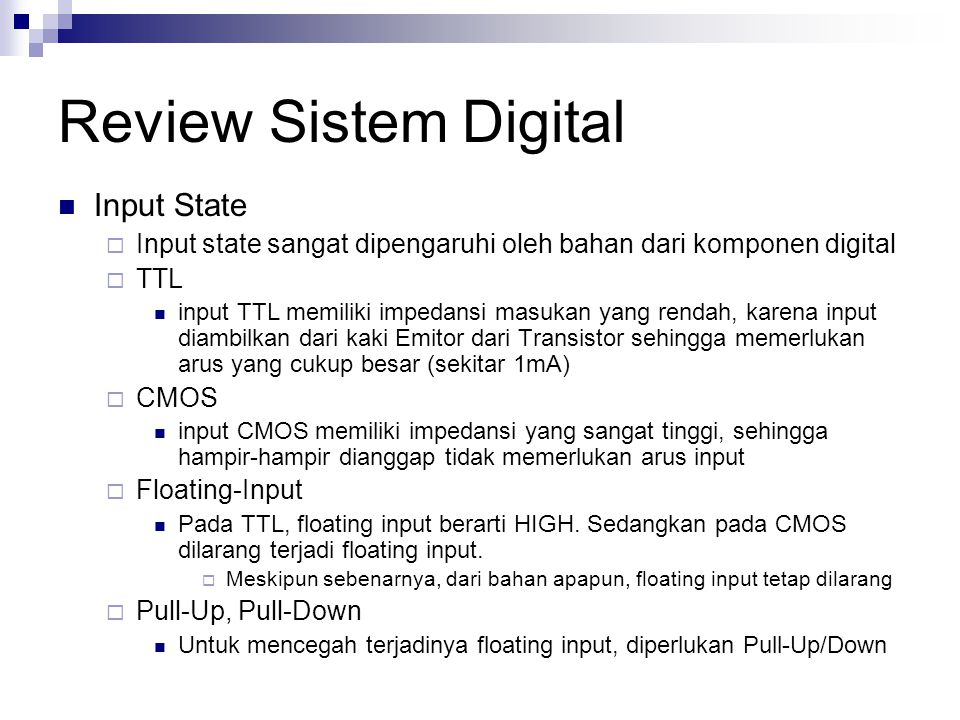 Review Sistem Digital Input State