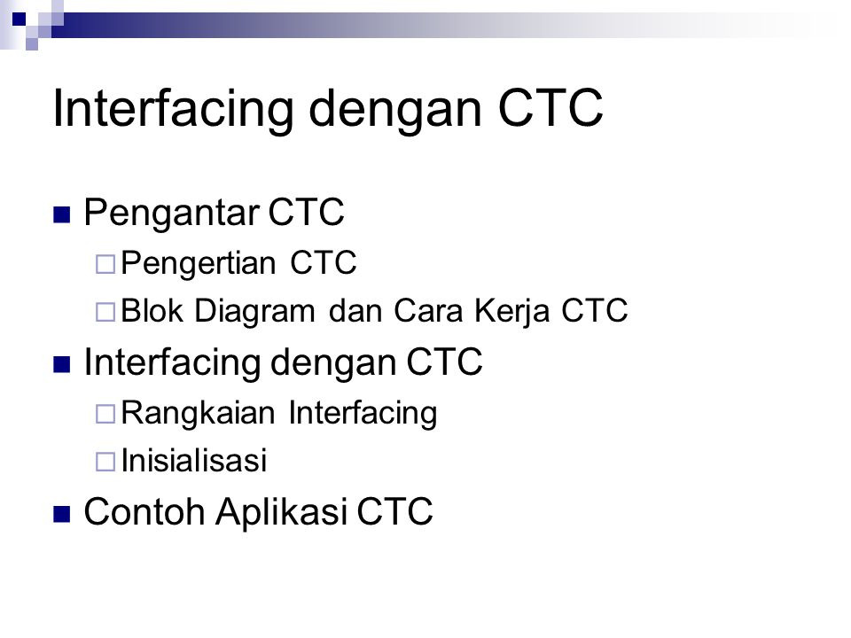 Interfacing dengan CTC
