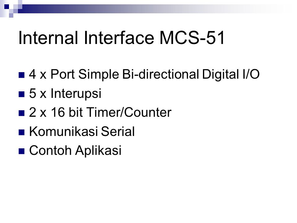 Internal Interface MCS-51