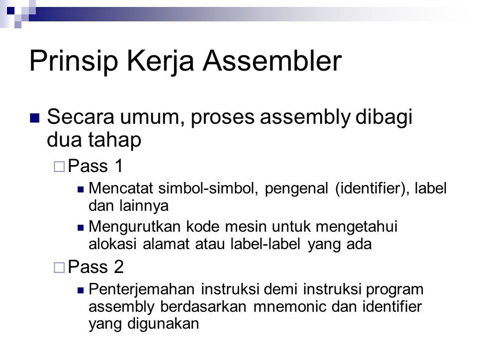Prinsip Kerja Assembler