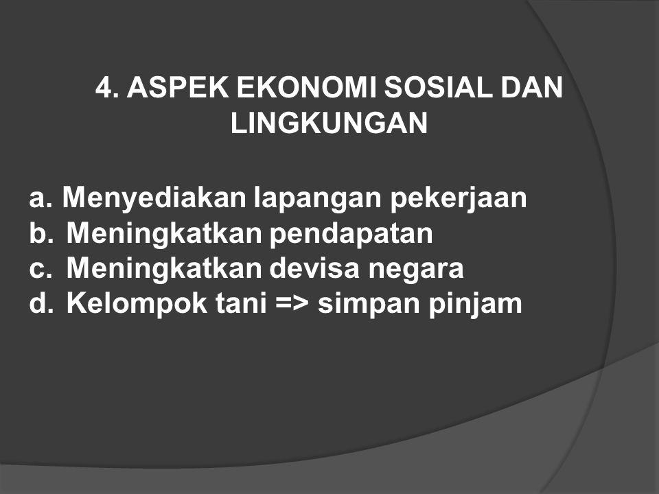 4. ASPEK EKONOMI SOSIAL DAN LINGKUNGAN