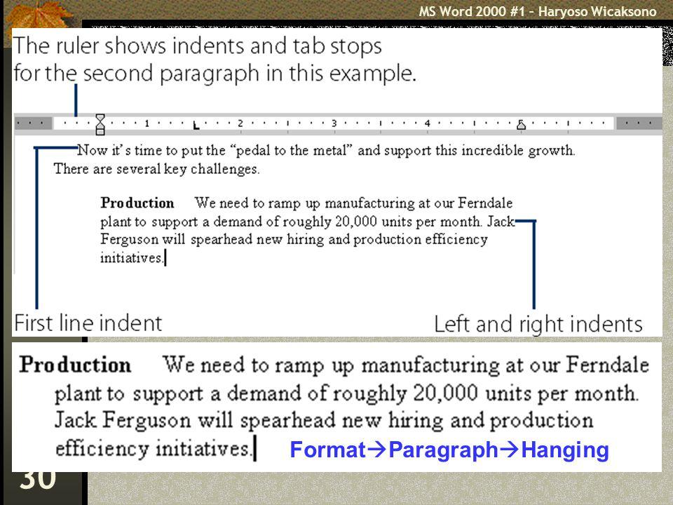 FormatParagraphHanging
