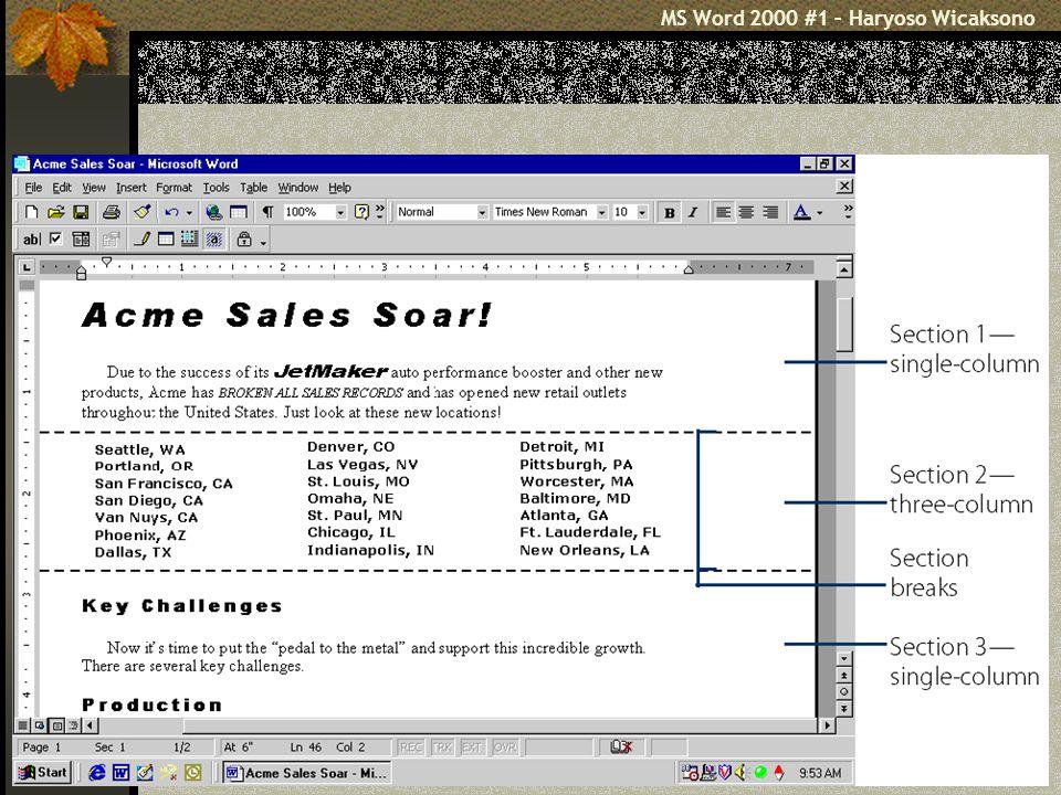 MS Word 2000 #1 – Haryoso Wicaksono