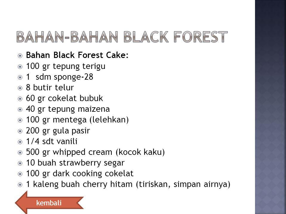 Bahan-bahan black forest