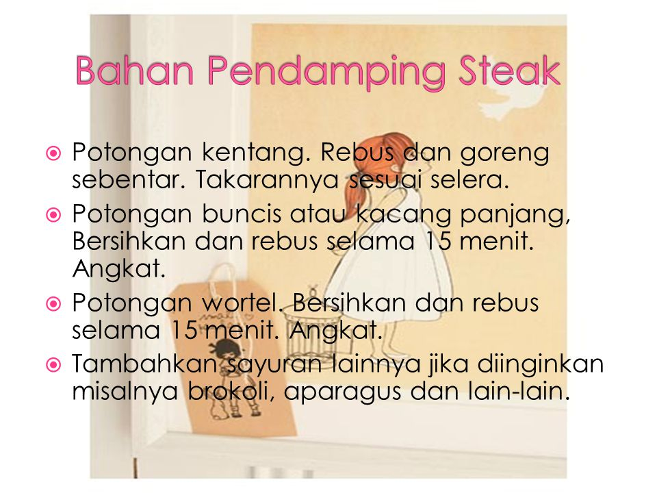 Bahan Pendamping Steak