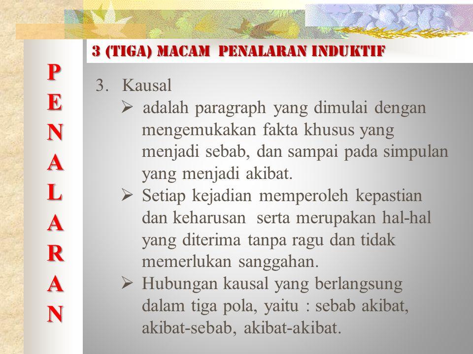 3 (tiga) macam PENALARAN INDUKTIF