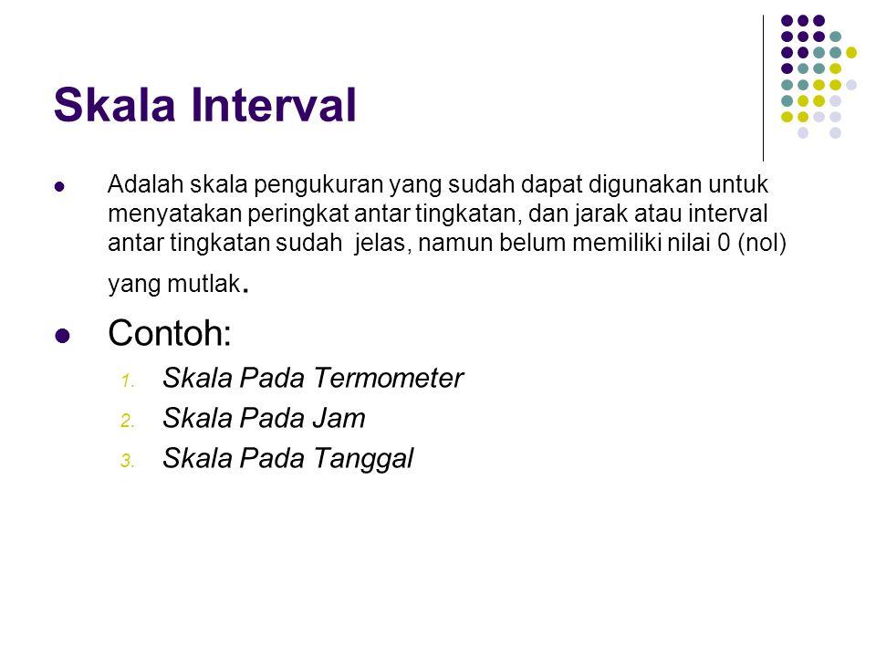 Skala Interval Contoh: Skala Pada Termometer Skala Pada Jam