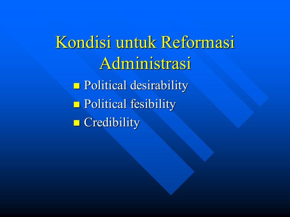 Kondisi untuk Reformasi Administrasi