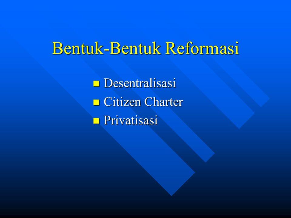 Bentuk-Bentuk Reformasi
