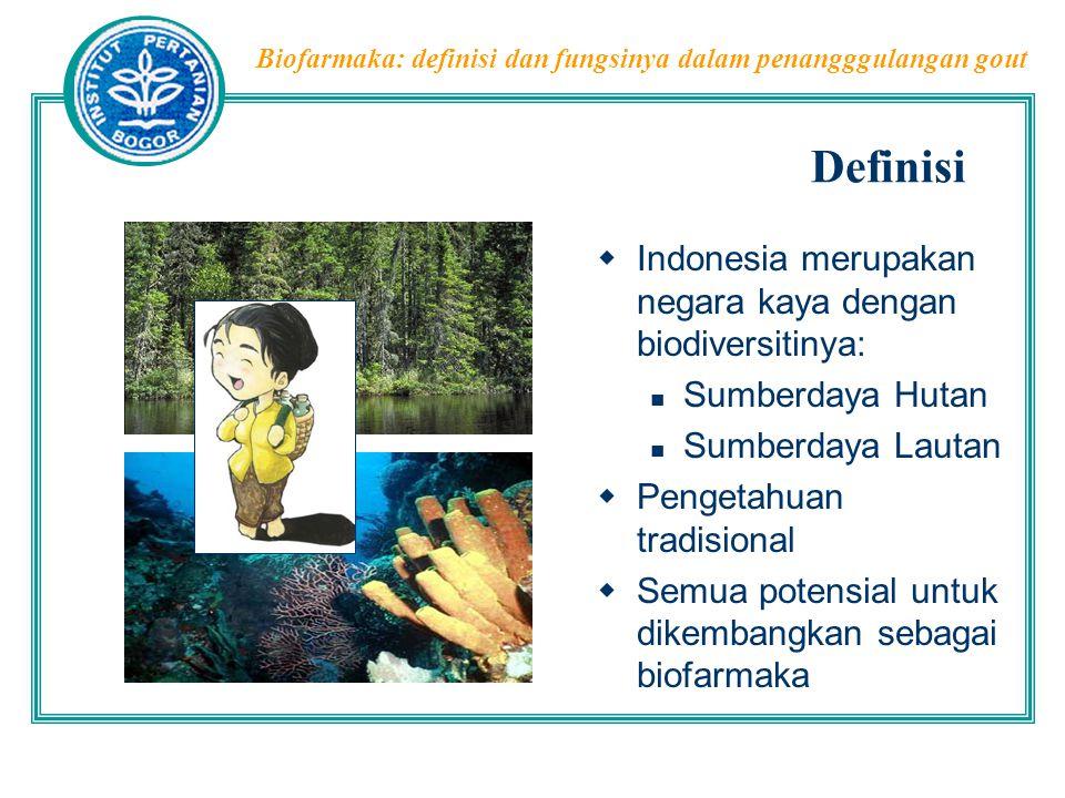 Definisi Indonesia merupakan negara kaya dengan biodiversitinya: