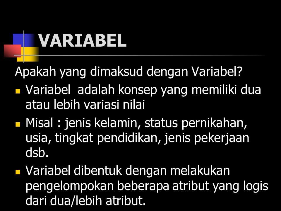 VARIABEL Apakah yang dimaksud dengan Variabel