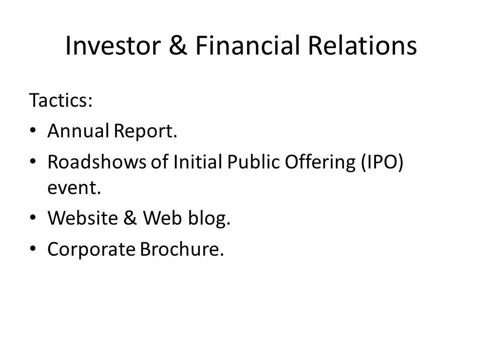 Investor & Financial Relations