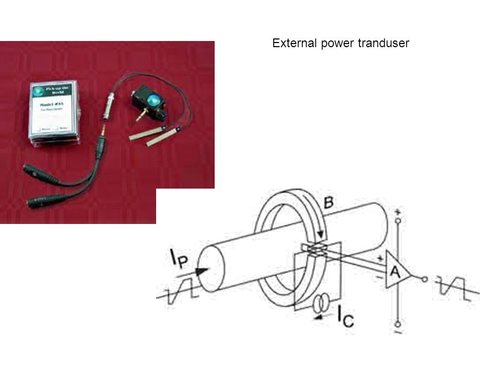 External power tranduser