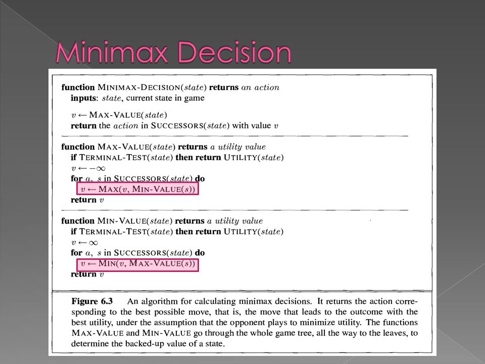 Minimax Decision