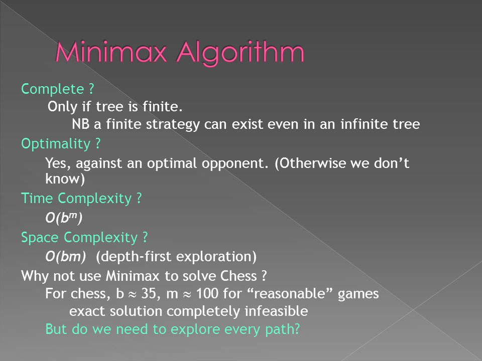 Minimax Algorithm Complete