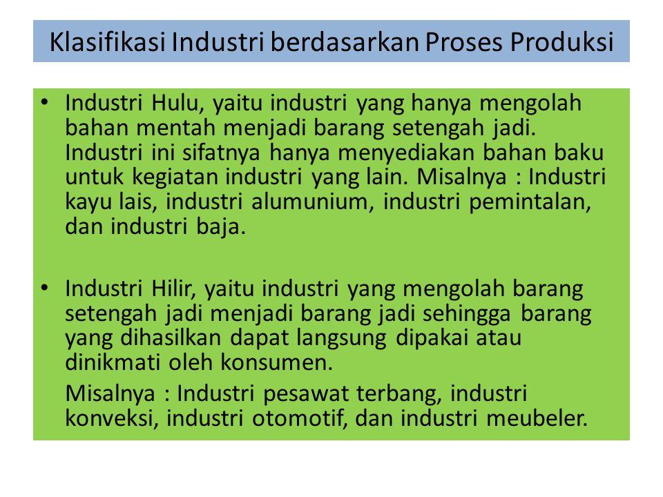 Klasifikasi Industri berdasarkan Proses Produksi