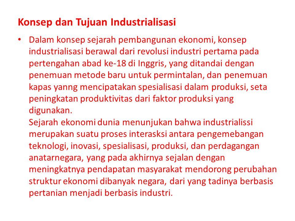 Konsep dan Tujuan Industrialisasi