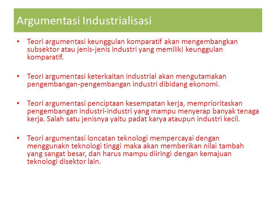 Argumentasi Industrialisasi