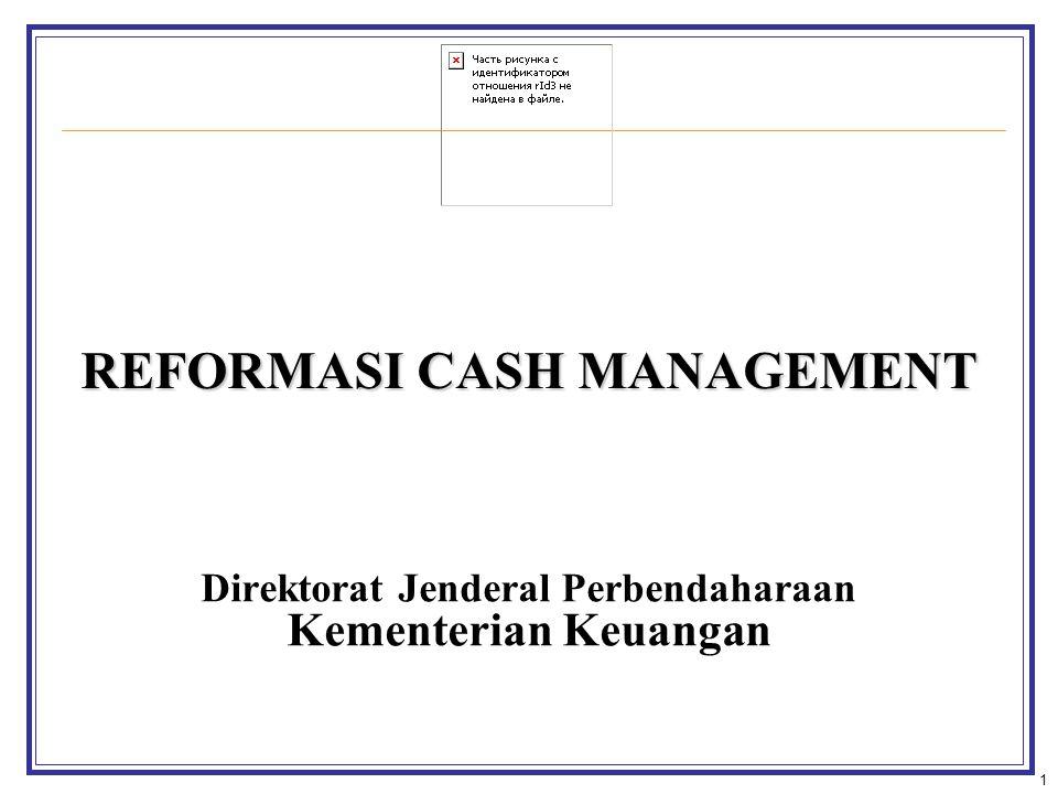 REFORMASI CASH MANAGEMENT Direktorat Jenderal Perbendaharaan