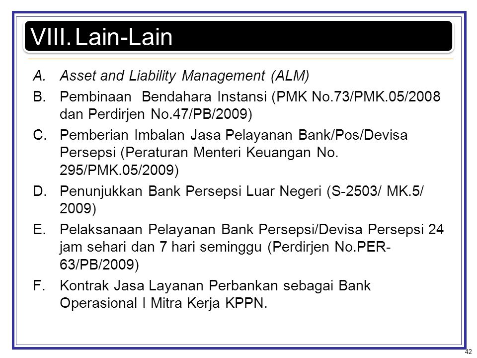Lain-Lain Asset and Liability Management (ALM)