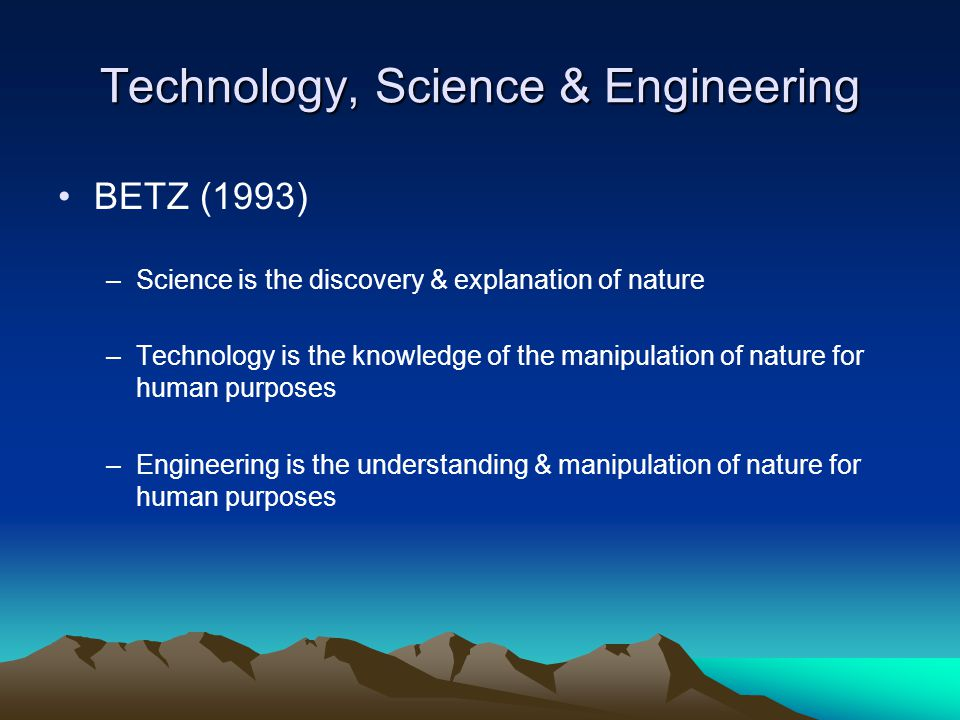 Technology, Science & Engineering