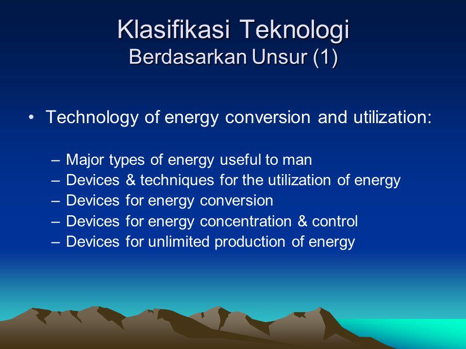 Klasifikasi Teknologi Berdasarkan Unsur (1)