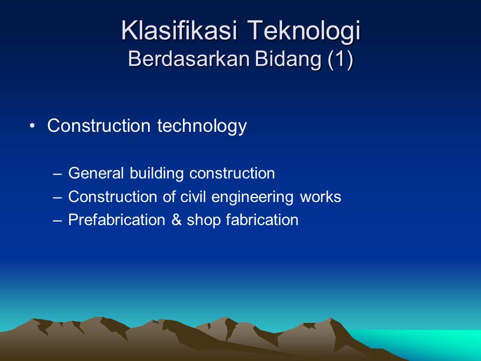 Klasifikasi Teknologi Berdasarkan Bidang (1)