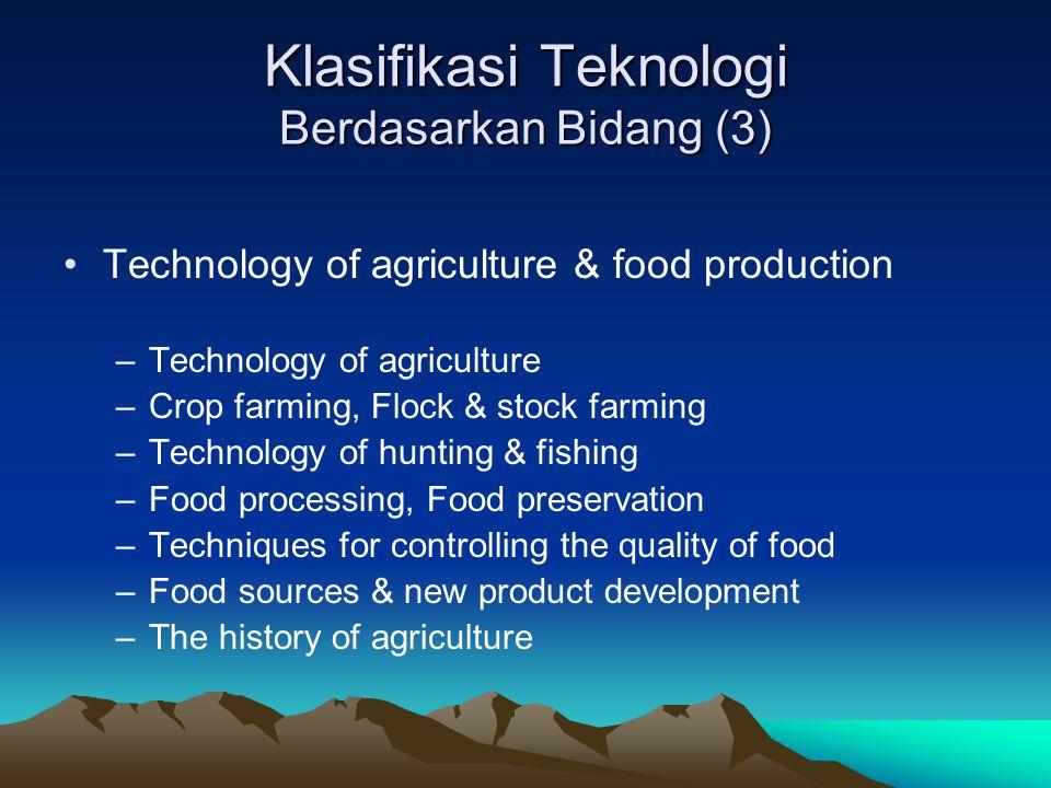 Klasifikasi Teknologi Berdasarkan Bidang (3)