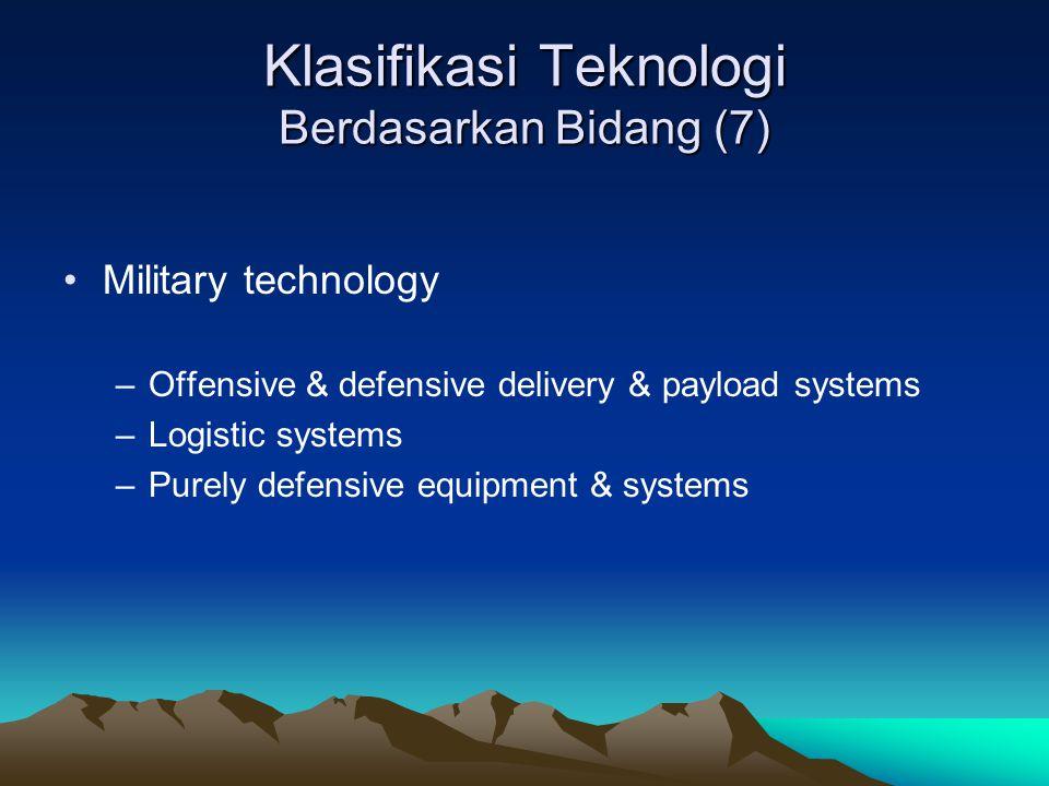 Klasifikasi Teknologi Berdasarkan Bidang (7)