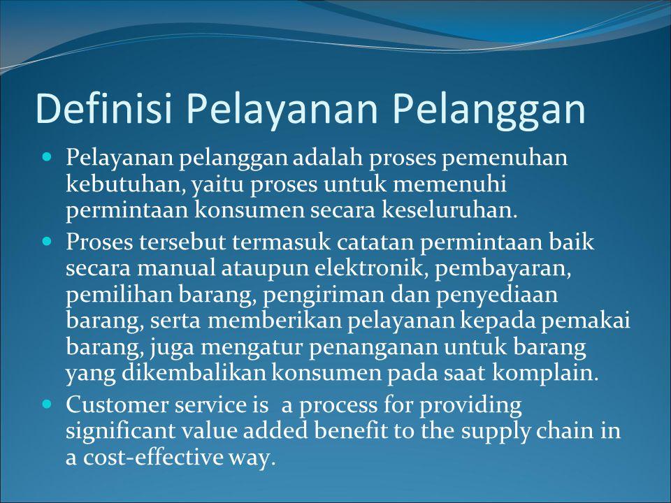 Definisi Pelayanan Pelanggan
