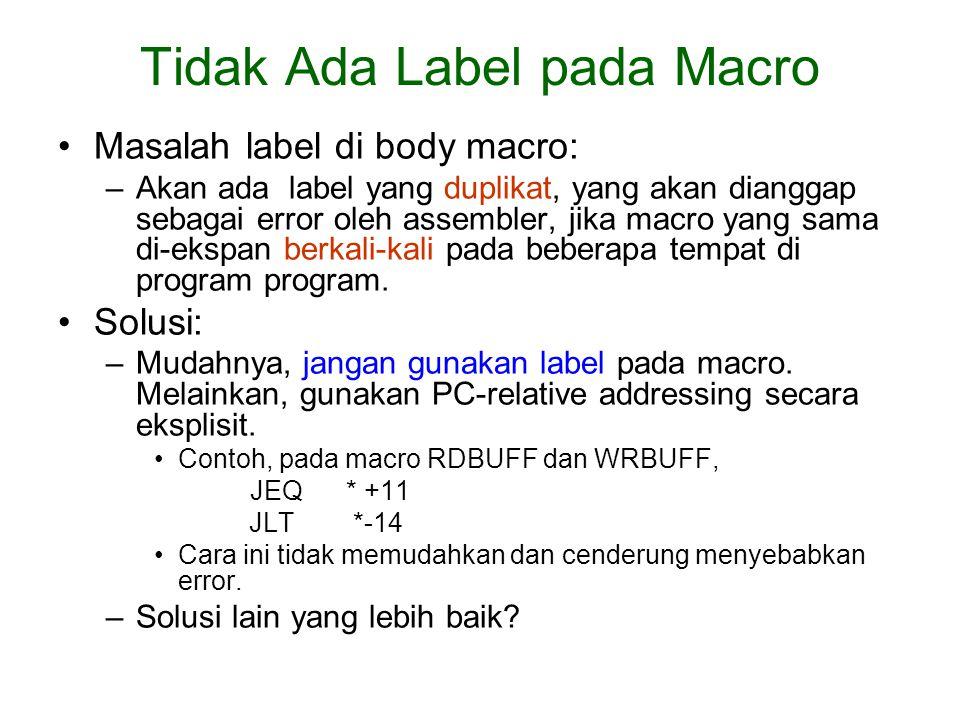 Tidak Ada Label pada Macro