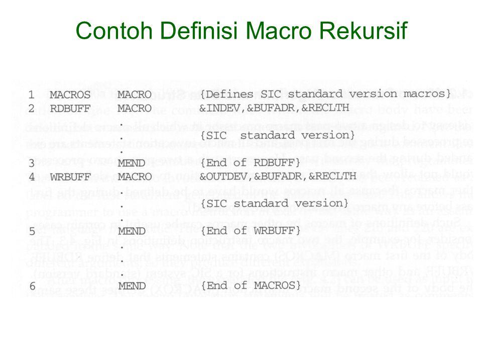 Contoh Definisi Macro Rekursif