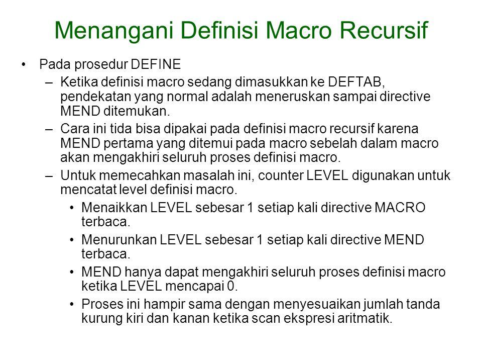 Menangani Definisi Macro Recursif